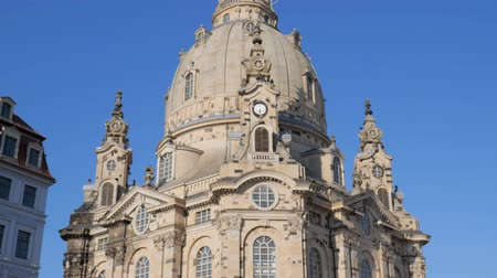 evangelical : Dresden, Germany 18 May 2018: Attraction, Frauenkirche (Church of Our Lady) in Dresden, 18 May 2018