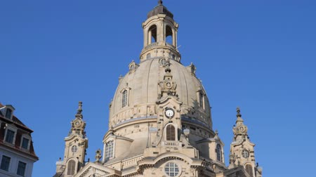 evangelical : Dresden, Germany 18 May 2018 Frauenkirche (Lutheran church) in Dresden, 18 May 2018.