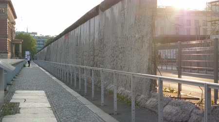ayrılmış : Berlin, Germany 15 May 2018: Berlin wall, dramatic symbol with hole in concrete in Berlin, 15 May 2018.