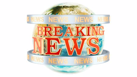 Global Breaking News animation concept, 3D rendering isolated on white background