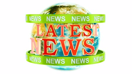 Global Latest News animation concept, 3D rendering isolated on white background