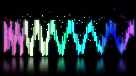 amplificador : Background with abstract animated sound graph.