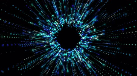 şekillendirme : Animated background of particles forming a tunnel