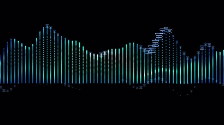 radio wave : Background with abstract animated sound graph.