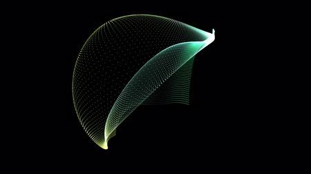 deformação : Animation of an abstract plasma sphere on a black background Stock Footage