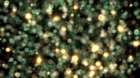 Festive background with animated particles.