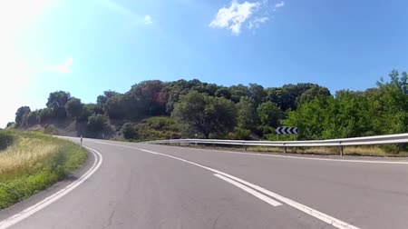 manzaraları : Vehicle point-of-view driving along mountains