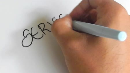 служба : right hand writing service and quality on White