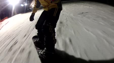 snowboard : Snowboarding in night