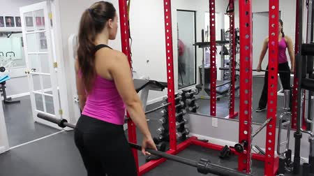exercícios : beautiful young woman lifting weights