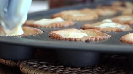 bandeja : pastry being prepared Stock Footage