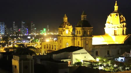 Колумбия : Cartagena, Colombia night tim- lapse. Timelapse