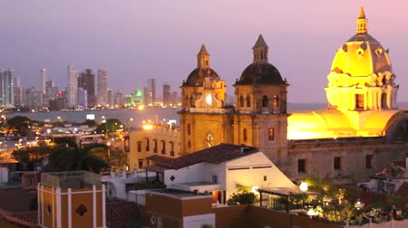 Колумбия : Cartagena, Colombia with the Caribbean Sea visible in the background