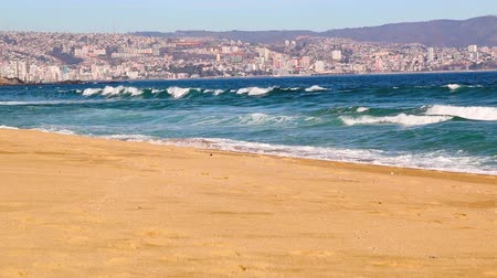 Vina del Mar, Chile Timelapse. Beach view