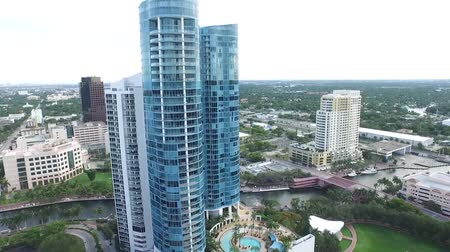 aerial view of buildings. real estate