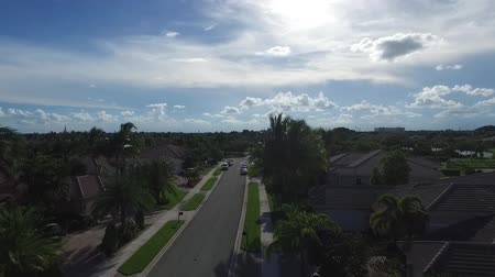 real : Real estate concept neighborhood. aerial view. Florida
