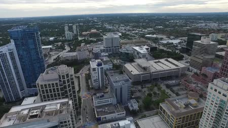 drone : Aerial view of downtown Fort Lauderdale. Florida. Drone Stock Footage