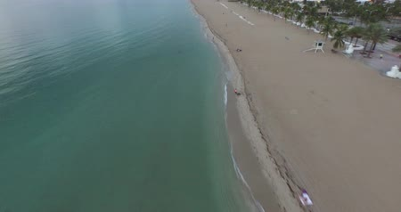 aerial view of the beach and ocean. clear water Wideo