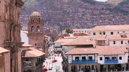 Cuzco, Peru Plaza de Armas. Church and Cathedral. On a sunny day