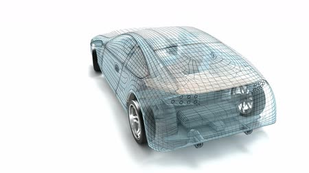 tridimensional : Car design, wire model. My own design