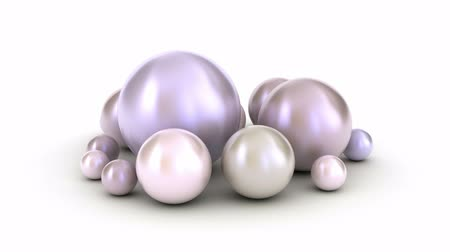 osztriga : Diffrent pearls on a white Stock mozgókép