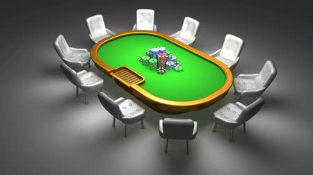 держит : Poker table with chairs interior animation