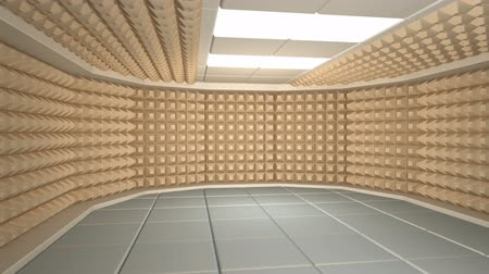 acoustical : Soundproof room interior Stock Footage