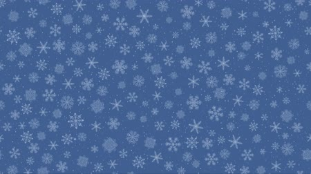 Christmas Animated Background, Fullhd 1920x1080 Progressive Seamlessly Looping Video of Night Winter Sky with Falling Snowflakes. Alpha Matte Included