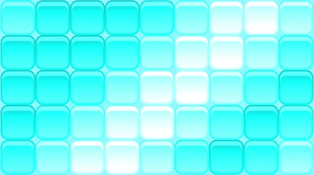 Fullhd 1920x1080 Progressive Seamlessly Looping Video of Blue Colorful Modern Background with Square Buttons Shimmering with Bright Waves. Animated Background for Design Stock Footage