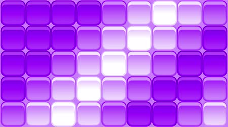 Fullhd 1920x1080 Progressive Seamlessly Looping Video of Violet Colorful Modern Background with Square Buttons Shimmering with Bright Waves. Animated Background for Design