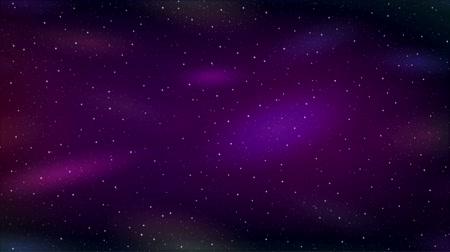 Fullhd 1920x1080 Progressive Seamlessly Looping Video of Abstract Empty Space with Bright Stars and Blue, Red and Green Cosmic Nebulas in Sky. Animated Background