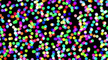 Fullhd 1920x1080 Progressive Seamlessly Looping Video of Colorful Confetti of Various Colors on Black. Abstract Animated Background for Holiday Design. Alpha Matte Included Stock Footage