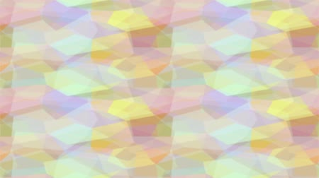 Fullhd 1920x1080 Progressive Seamlessly Looping Video of Colorful Mosaic Moving Diagonally. Abstract Animated Background. Stock Footage