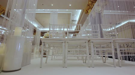 стулья : The chairs in the hall of wedding ceremonies