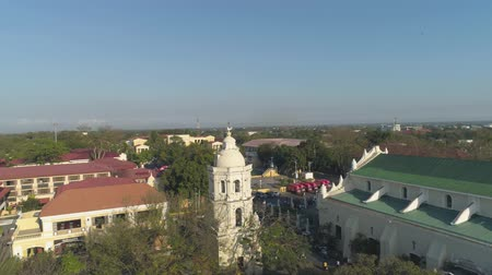 colonial : Historic colonial town in Spanish style Vigan, Philippines, Luzon. Aerial view of Historic buildings in Vigan city, Unesko world heritage site. Travel concept.