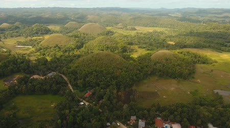 philippine : Geological formations in form hills known as chocolate hills Bohol, Philippines. aerial footage Amazingly shaped Chocolate hills