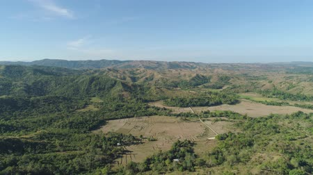 luzon : Mountain province with valley on the island of Luzon, Philippines. Aerial view of mountains covered forest, trees. Cordillera region.
