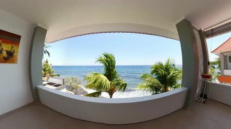 джакузи : view from the balcony of luxury hotel on sea. tropical resort with hotel balcony Travel concept.