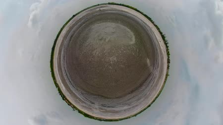 géiser : little planet view Mud volcano, geothermal activity and geysers Bledug Kuwu, Indonesia. aerial view volcanic landscape