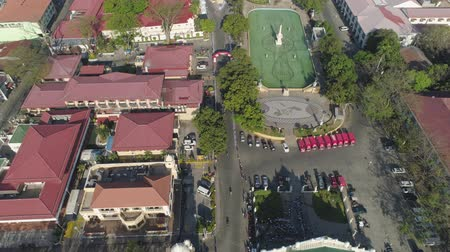 colonial : Historic colonial town in Spanish style Vigan, Philippines, Luzon. Aerial view of Historic buildings in Vigan city. Travel concept.
