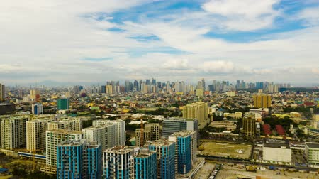 metro manila : Timelapse: Manila city the largest metropolis of Asia with skyscrapers and modern buildings. Travel vacation concept.