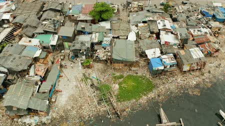 keet : Aerial view Manila city with slums and poor district Manila, Philippines.