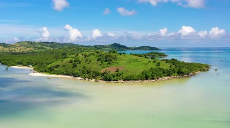 costa azzurra : Lagoon with islands. Caramoan Islands, Philippines. Beautiful islands, view from above. Summer and travel vacation concept.
