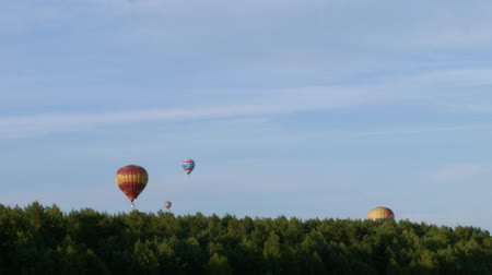 авиашоу : Air balloons over the forest