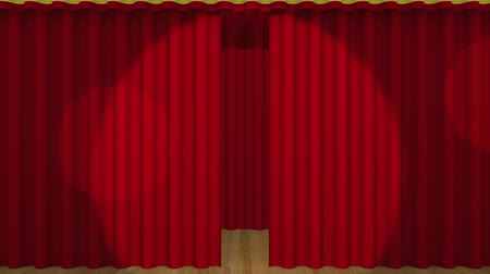 perdeler : Red curtains opening