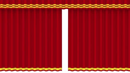 stage theater : Theater curtains in red