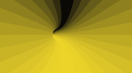 perspectiva : dynamic yellow tunnel in motion. infinite loop Vídeos