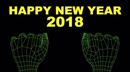 Hands making a countdown for new year 2018. english