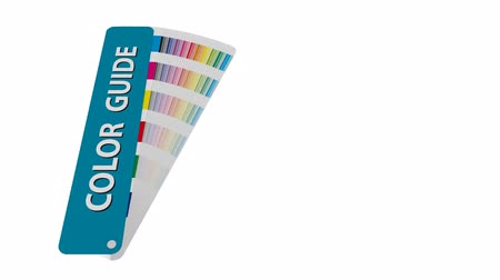 color swatch : cmyk color chart to use in prepress and printing. Used to pick color swatches. cyan magenta and yellow are base colors and others has been created combining them. tints and ink catalog for graphic arts Stock Footage