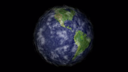 afrika : Earth rotating with clouds moving, seamless looping